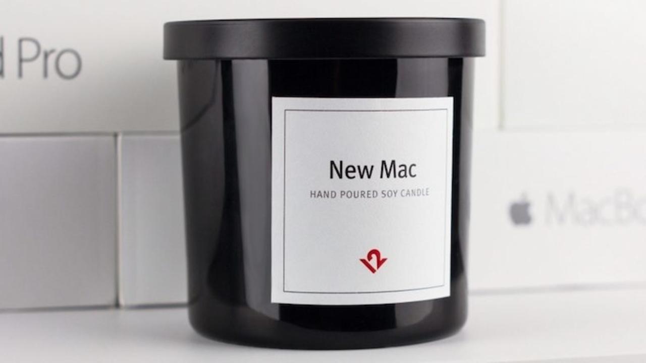 あの感動をもう一度。「新品Macの香り」キャンドルが登場