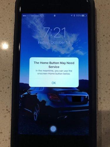 iPhone 7のセンサー式ホームボタンが壊れたらどうなる? 1