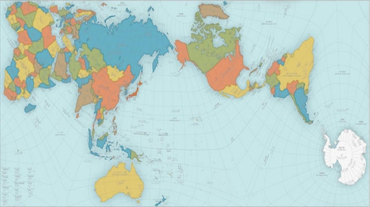 これが正しい地球の姿。世界の見方を変える「オーサグラフ世界地図」