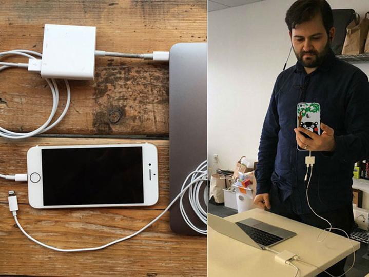 2枚の画像で見る、iPhone 7 x 新MacBook Proの悪夢