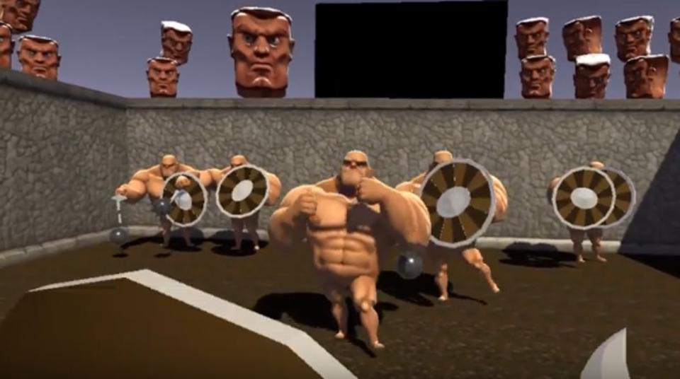 VRで全裸マッチョメンと剣闘ができるゲーム『GORN』