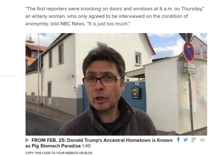 トランプの祖父の家がドイツで売り出される