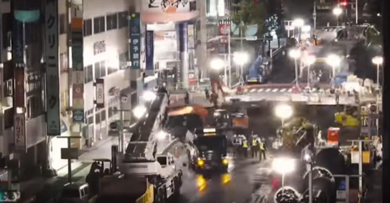 博多陥没事故、復旧までの様子をタイムラプス動画で