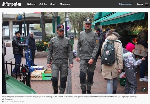 ノルウェーで試験運用中の警官新制服、ひんしゅくを買う3