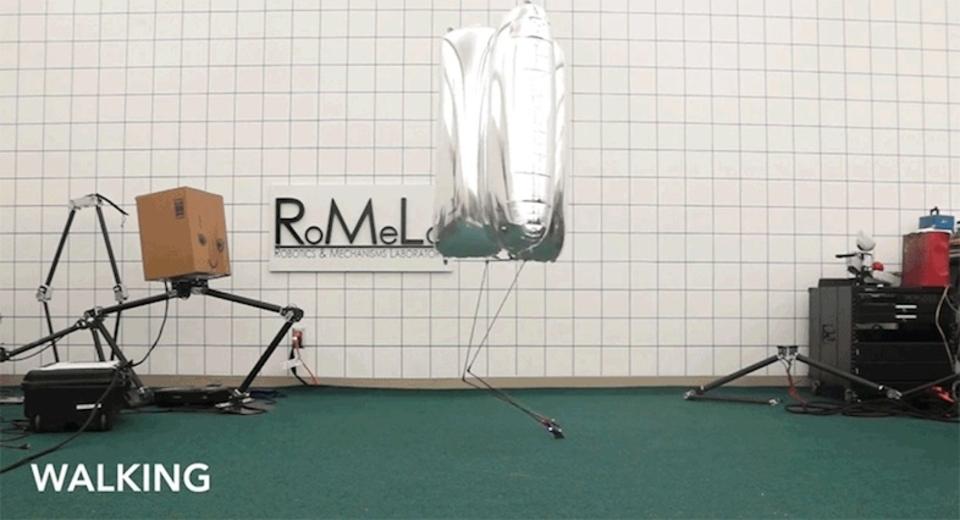 絶対倒れない二足歩行ロボットを考えたら、胴体が風船になった
