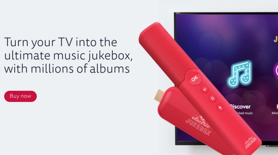 テレビをジュークボックスに変えるスティックデバイス「Electric Jukebox」は、音楽体験をシンプル化する