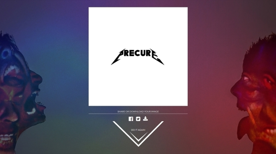 有名バンドロゴ風のフォントで「Precure」とタイプしたらキュアキュアな感じは出るのか?