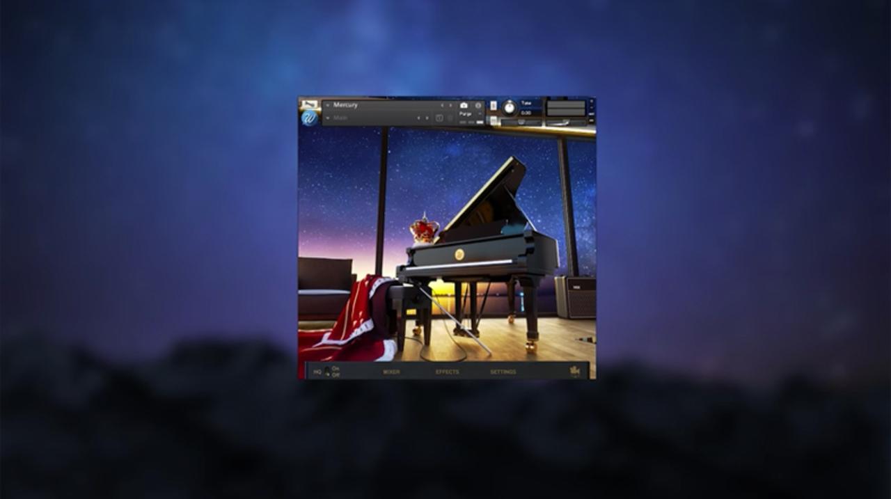 クイーンのフレディー・マーキュリーが使用したピアノをそのまま音源に