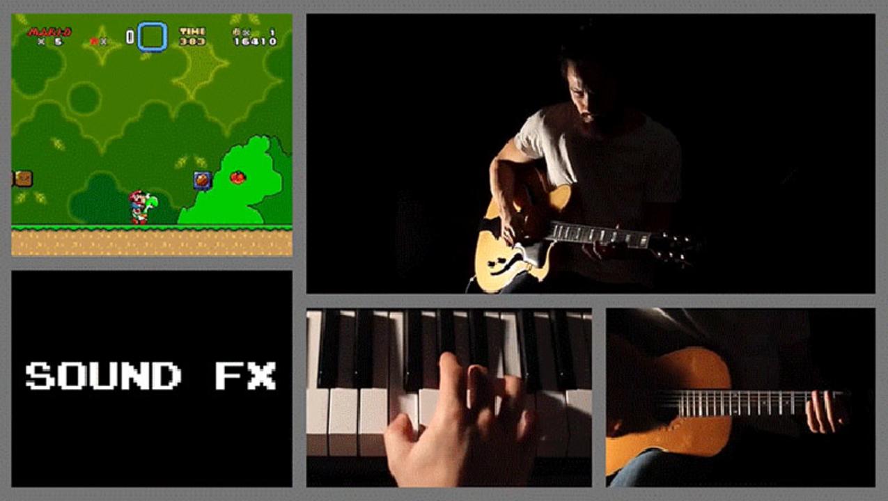 『スーパーマリオワールド』のBGMから効果音まで、すべて楽器で再現する一人の男