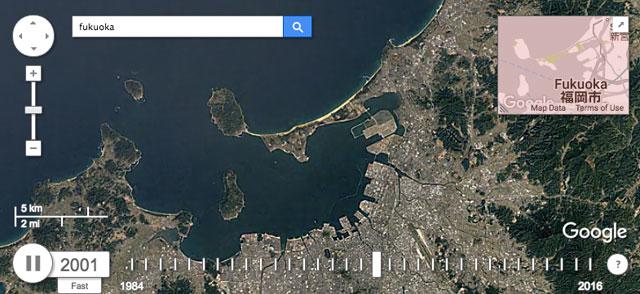 Google Earth Engine タイムラプス