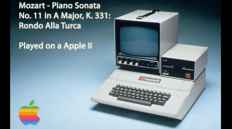 Apple IIで演奏する、モーツァルトの『トルコ行進曲』