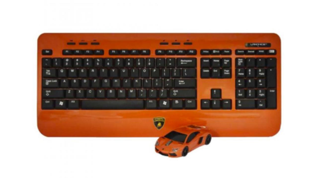 卓上は今、サーキットにッ! Lamborghini LP700デザインの無線マウス+キーボード