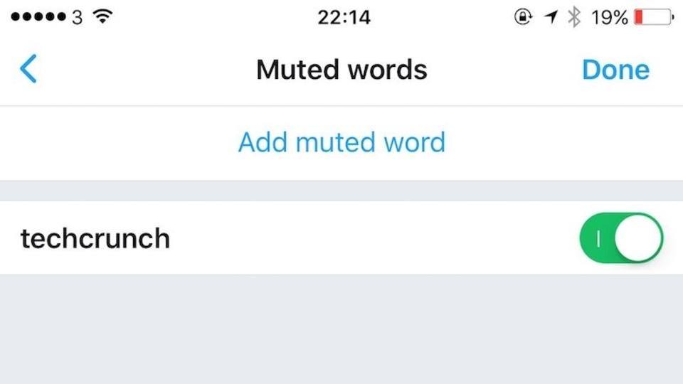 Twitterが「ワードミュート」機能を一時誤って公開