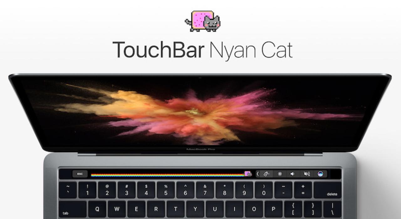 カワイイ猫があなたのキーボードに。MacBook ProのTouch Barを「Nyan Cat」が走る!