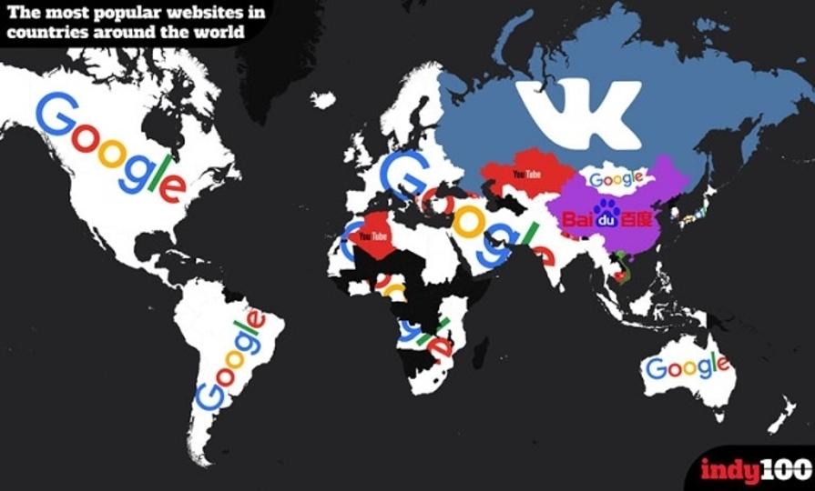 国別で見る、1番アクセスされているウェブサイト(追記あり)