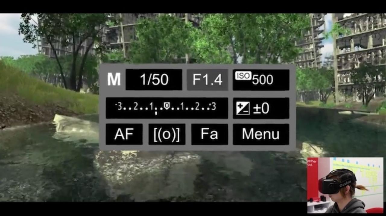 VR空間で自由にパシャパシャ! キヤノンが一眼カメラとレンズのVRシミュレーターを開発