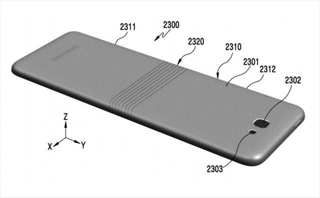 Samsungのガムみたいに折りたためるスマホ特許が判明2