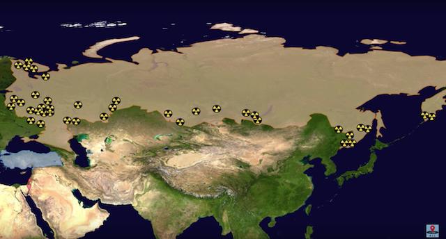 ロシアの核の貯蔵場所
