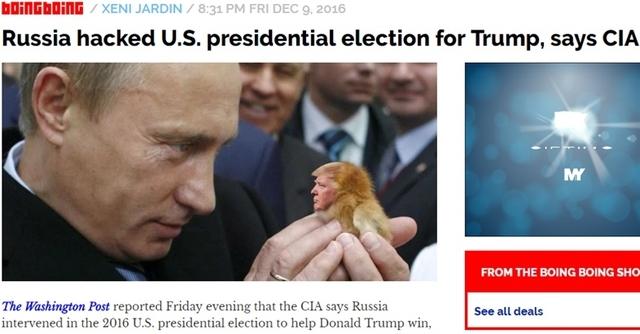 CIA「ロシアは米大統領選を選挙操作してた」
