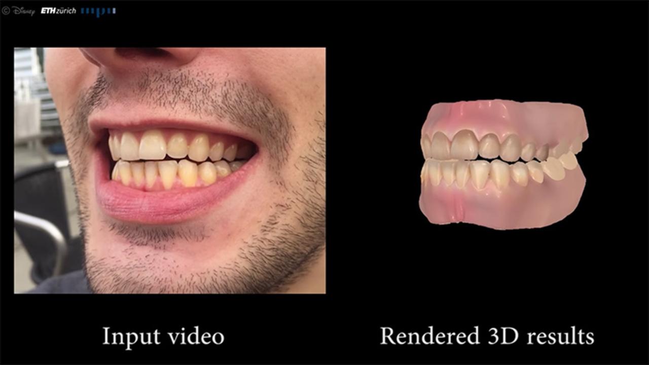 ディズニー・リサーチ、口腔内の歯と歯茎まで再現できるCG技術を開発