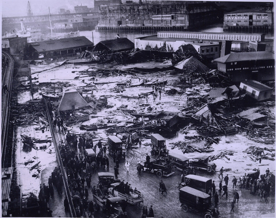 100年前のボストン糖蜜大洪水の原因、ついに判明?