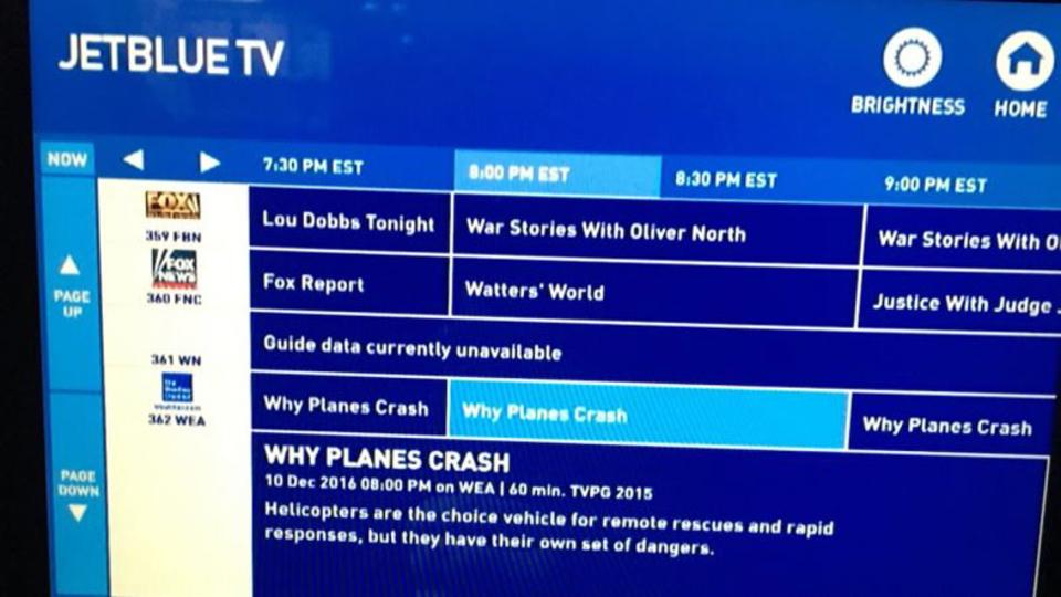 飛行機内プログラムに「なぜ飛行機は墜落するか」って番組あるけど、見たくない