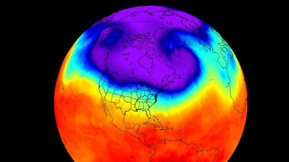 今年の冬の北米はまた記録的な寒さに? 極渦が下りてきた