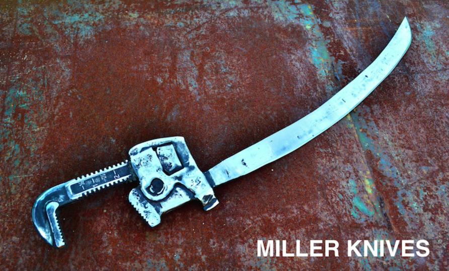 世紀末的DIY。パイプレンチから刀を作っちゃった人