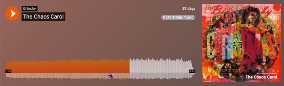 有名クリスマス・ソング100曲を同時に再生してみた