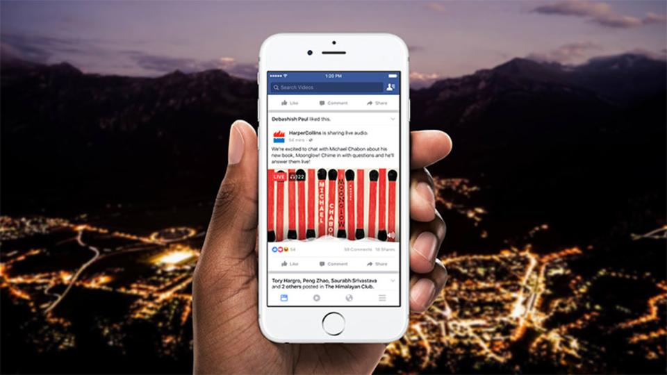 Facebook、音声のみのライブストリーミング機能「Live Audio」を試験的に展開。誰でも気軽にラジオ放送へ