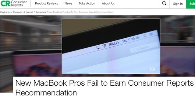 残量表示が消え、CR誌の推奨も除外。新MacBook Proバッテリー問題、気になる原因は…