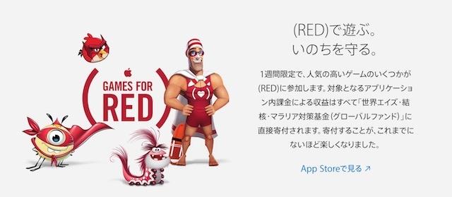 (RED)のアプリから寄付