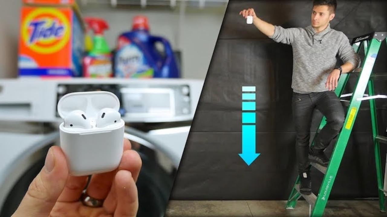 AirPodsで無茶するとどうなる? 落下や洗濯機でのテスト動画