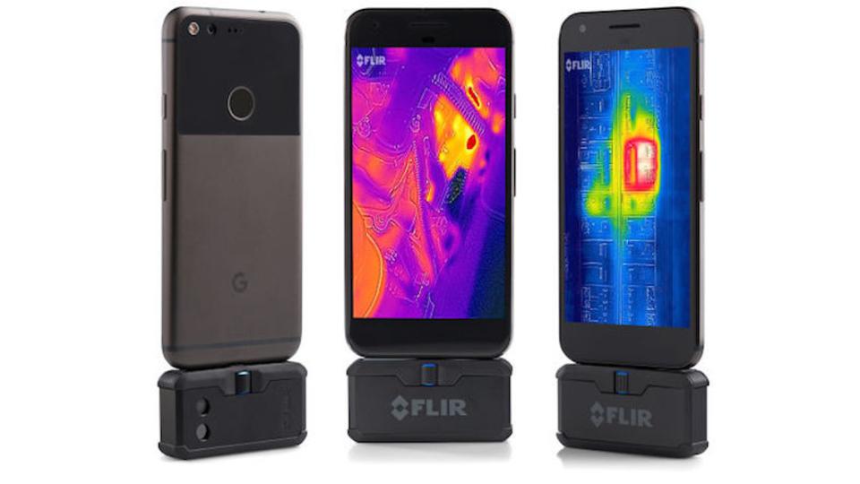 スマホでサーマルビジョンを見られる「FLIR ONE」にプロ版登場、ドローン用カメラも
