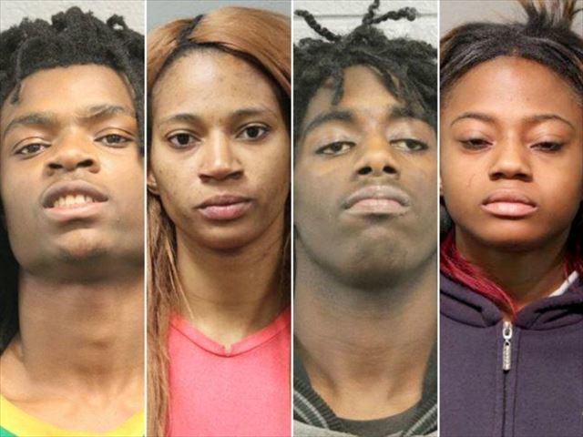 白人障がい者拷問ライブ中継の黒人4人、ヘイトクライムで逮捕2