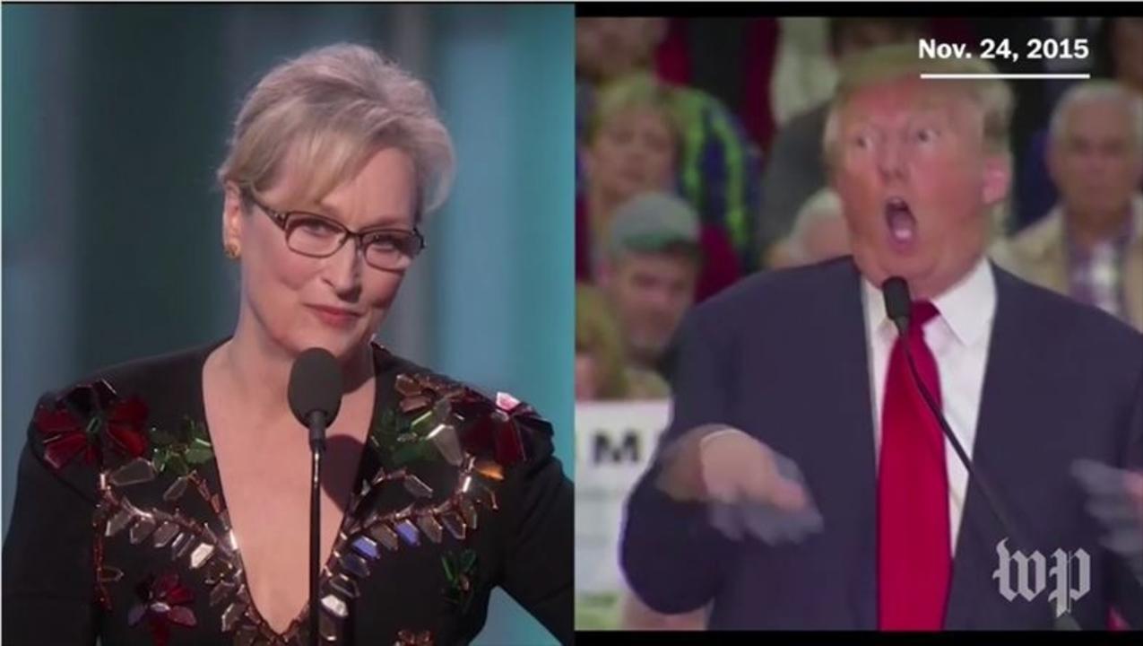 メリル・ストリープ演説全訳、トランプが「障がいをもつ記者のモノマネ」した背景