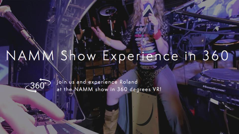 世界最大の楽器展示ショーを360度で生中継するイベントをRolandが開催。先着でVRビューワープレゼントも