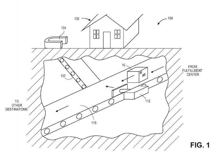 Amazonの新特許シリーズ。今度は配送センターと家をつなぐ地下トンネルを考案