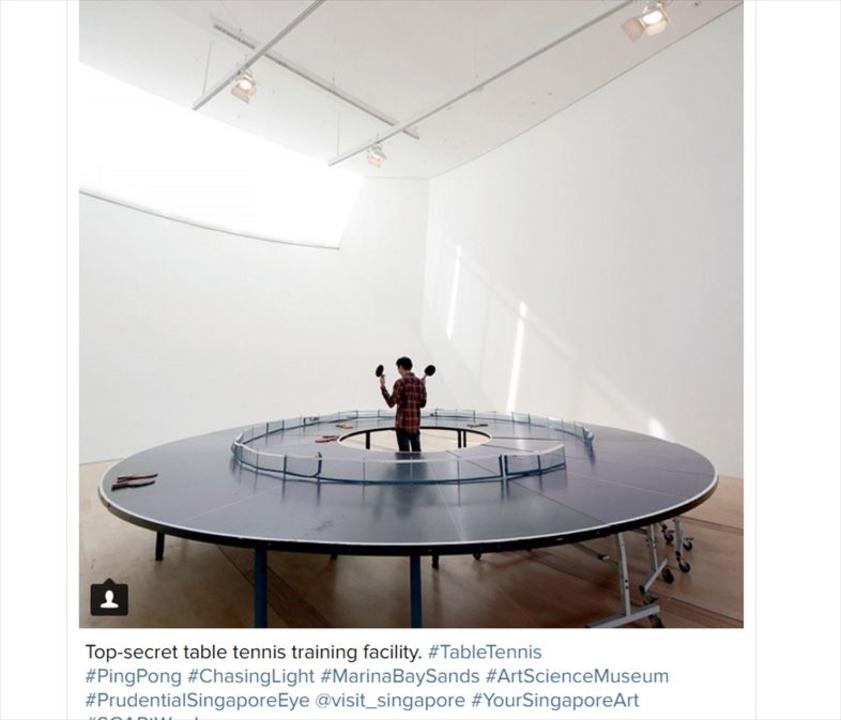 Googleアジア本社にある、Apple新本社っぽい卓球台