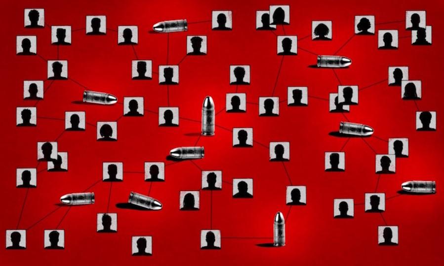 銃犯罪はウイルスのように伝染することが判明。さらに犯罪の予測も可能になるかも...