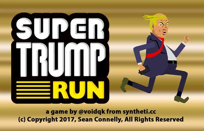 大統領が洪水を走り抜ける! 『スーパートランプ ラン』