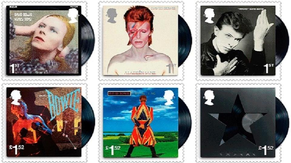 名盤ジャケぞろい...。英国でデヴィッド・ボウイの記念切手発売へ