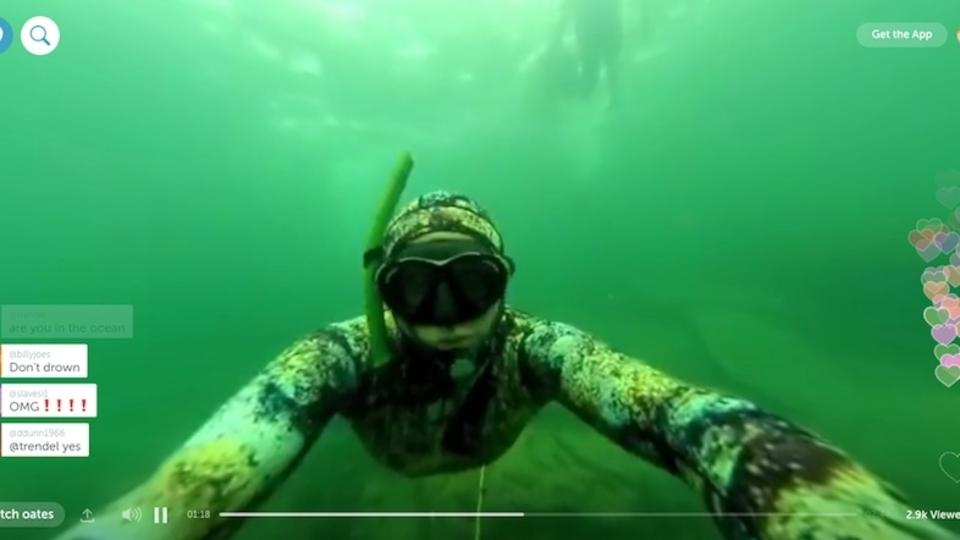 Periscopeでの世界初の「水中360度ビデオ配信」をどうぞ