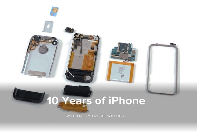 iPhoneバラして10年。iFixitがiPhone全モデルの分解レポートまとめを公開