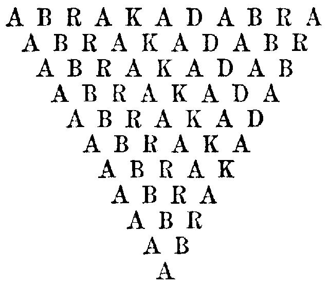 アブラカダブラ!謎の呪文の秘められた起源2