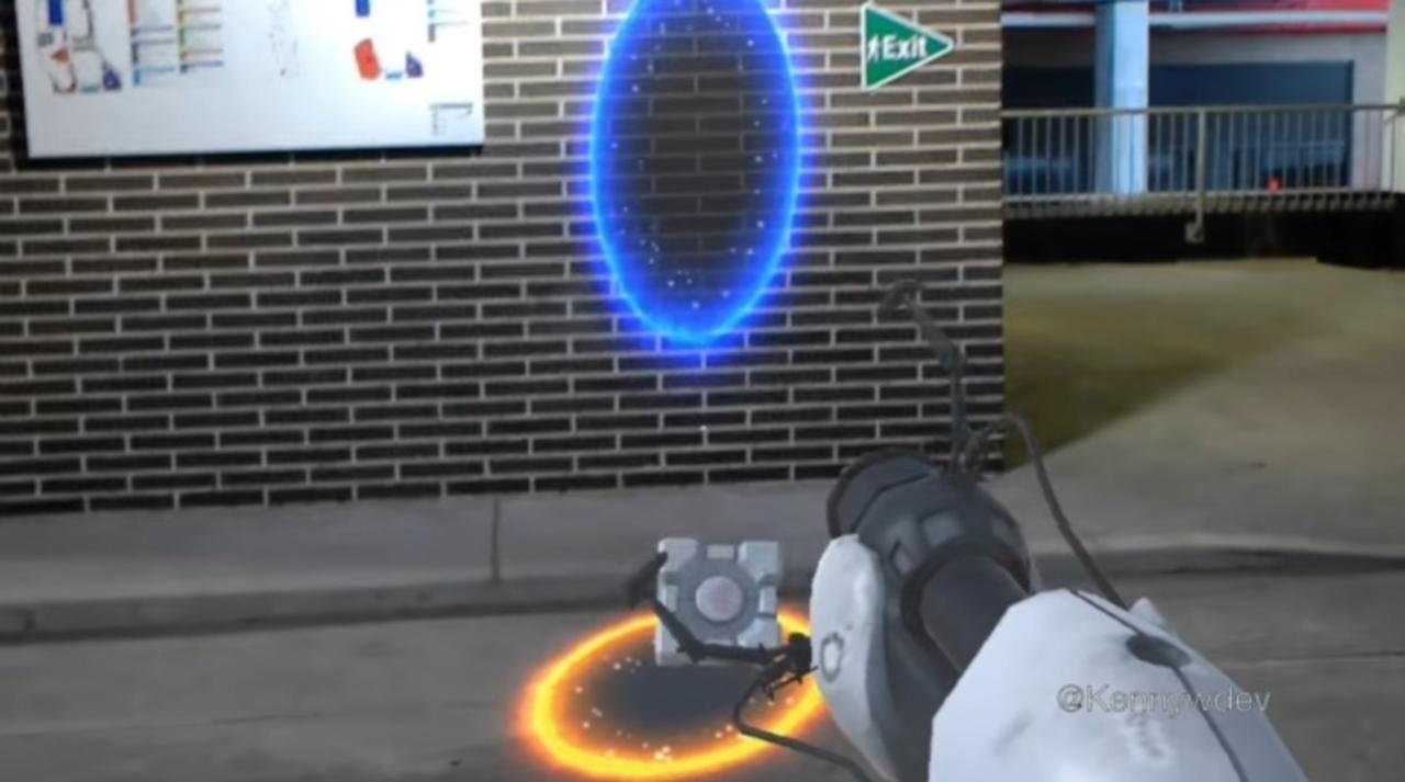 もしゲーム portal をmrでプレイできたら最高に違いない ギズモード
