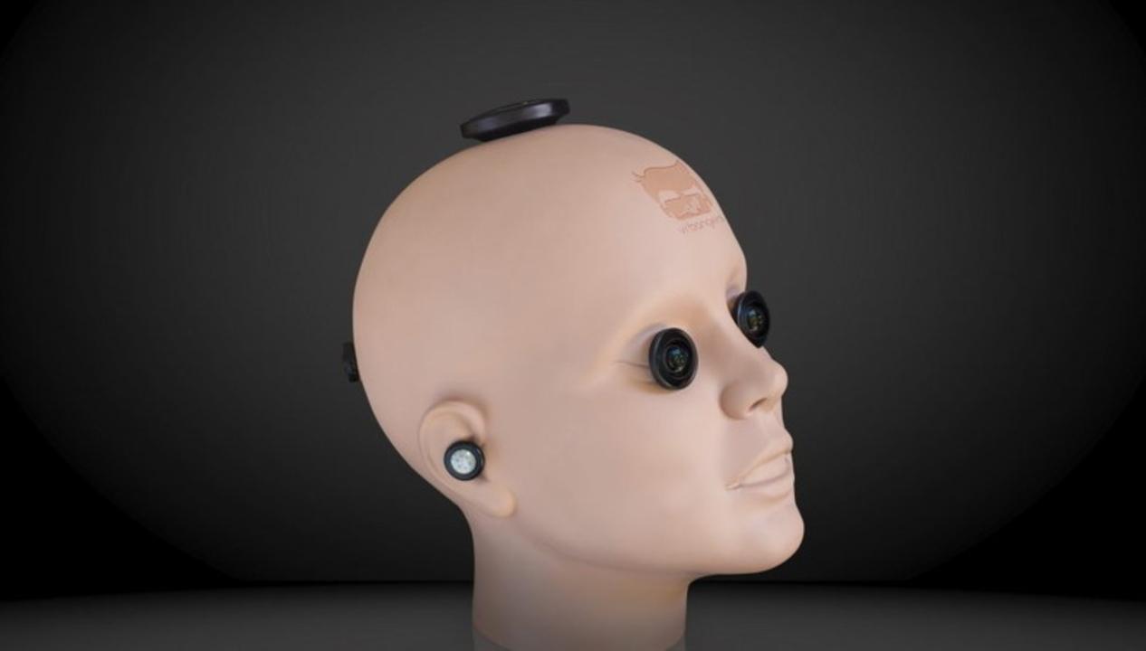 アダルト向けVRコンテンツの撮影で力を発揮する、珍妙なマネキン頭型カメラ