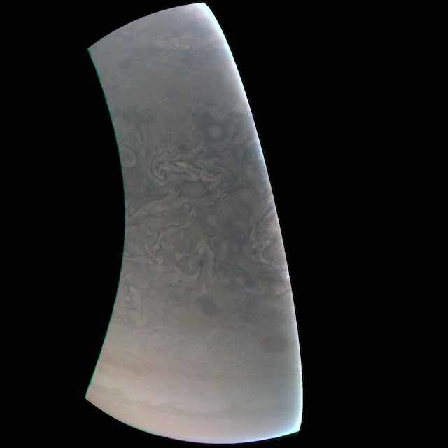 ジュノー 木星写真 北極