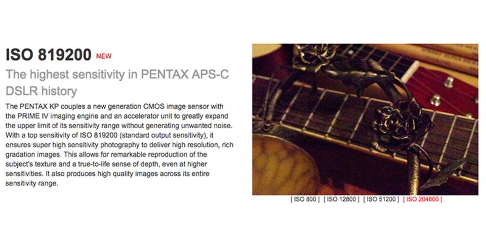 最高ISO819200! PENTAX KPの高感度がほんっとに期待できそう!