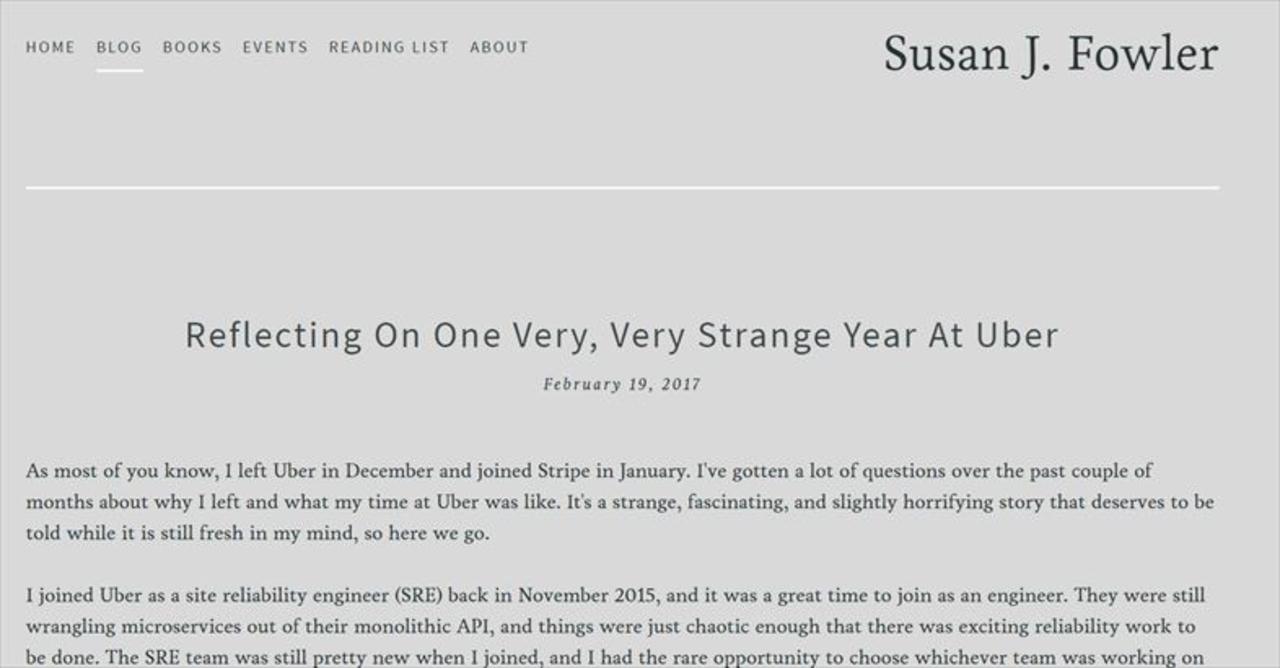 Uberは想像以上にマッチョだった。ある女性元社員の告発